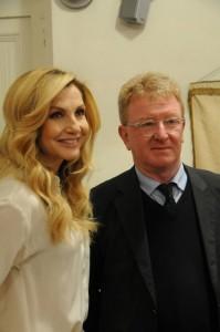 Con la madrina della manifestazione, Lorella Cuccarini