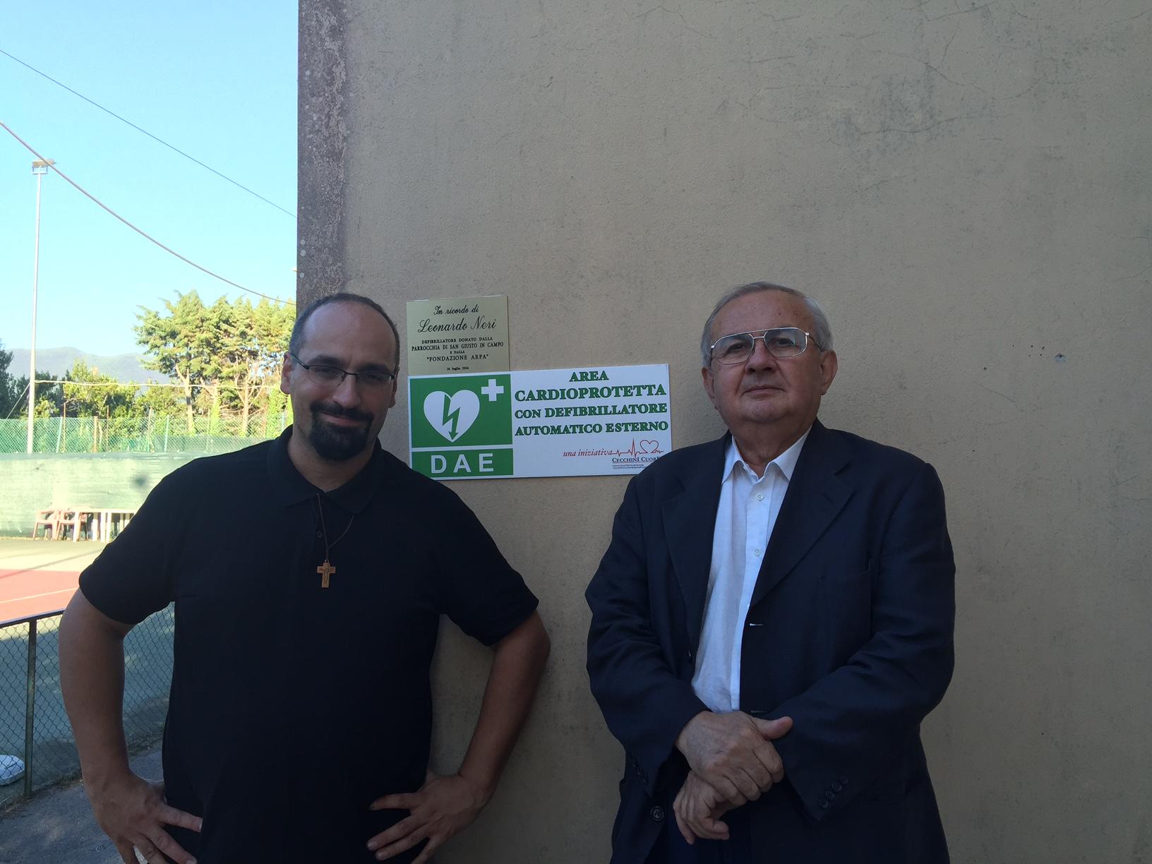 Don Luca Facchini con il Prof. Mosca