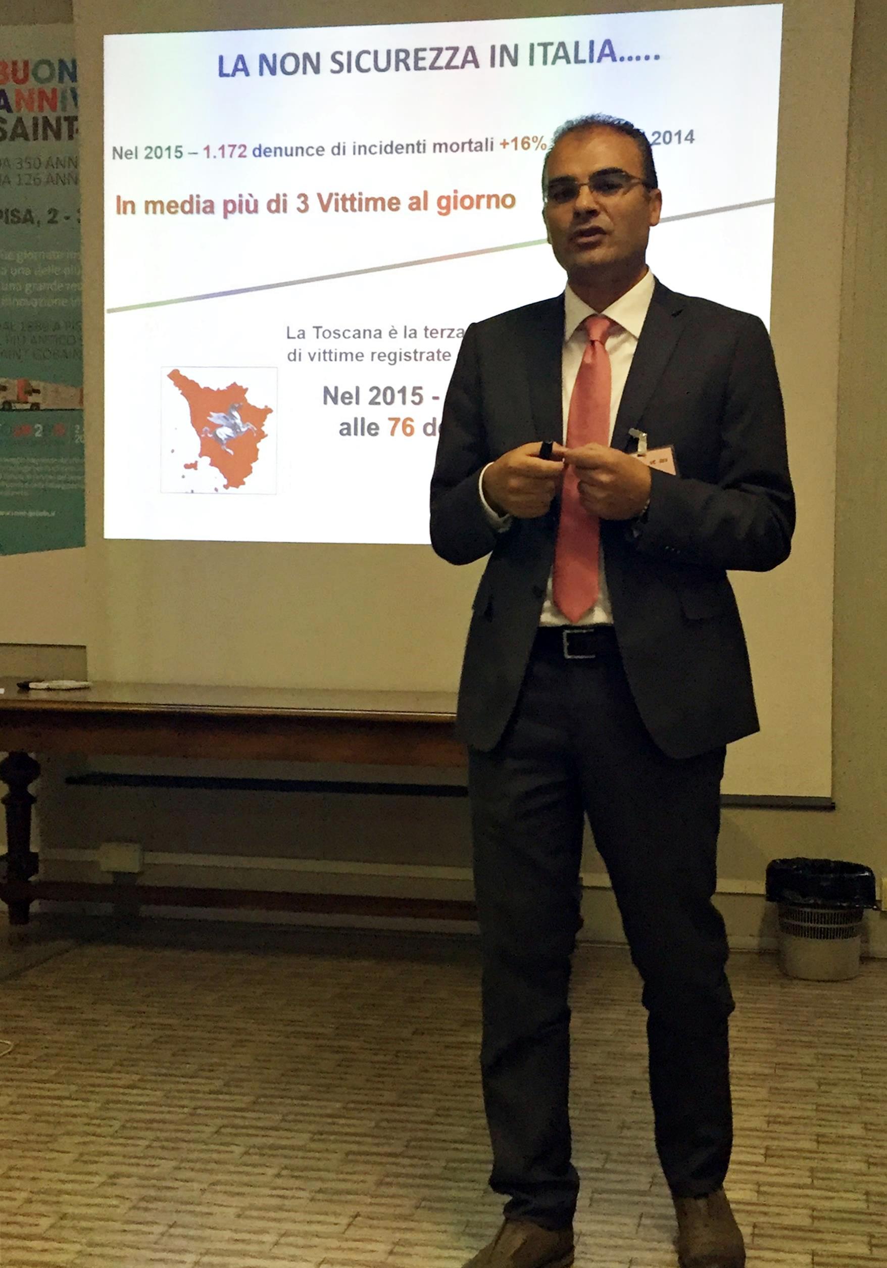 Il Dott. Francesco MEDURI nel suo intervento